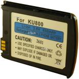 Batterie de téléphone portable pour LG KU800 black 3.6V Li-Ion 600 / 700mAh