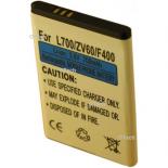 Batterie de téléphone portable pour SAMSUNG Li-Ion 700mA ZV60 / F400 3.6V Li-Ion 800mAh