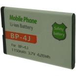 Batterie de téléphone portable pour NOKIA BP-4J 3.7V Li-Ion 1150mAh