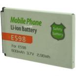 Batterie de téléphone portable pour SAMSUNG E598 3.7V Li-Ion 800mAh