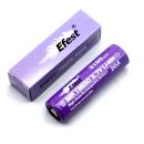 Accu li-ion Efest Purple LIMN  pour e-cigarette  compatible 18650 / IMR18650 3.7V 3100mAh Flat