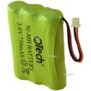 Batterie de téléphone AAA 3.6V 750mAh