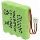 Batterie de téléphone 4.8V Ni-Mh 750mAh