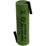 ACCUS OTech Industriel AA pattes a souder 1.2V Ni-Mh 2000mAh