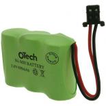 Batterie de téléphone Ni-Cd 3.6V 300mAh 3x1 / 2AA avec Fully Univ Conn.