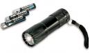 Lampe torche aluminium 9 leds