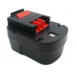 Batterie d'outillage 14,4V 2,0Ah Ni-Cd / Ni-Mh BLACK & DECKER A14 / A1714
