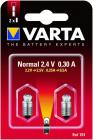 2 Ampoules Ogivale vis Argon 2.4V/0.3A