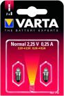 2 Ampoules Ogivale vis Argon 2.25V/0.25A