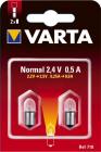 2 Ampoules Ogivale lisse Argon 2.4V/0.5A