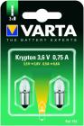 2 Ampoules Ogivale lisse Krypton 3.6V/0.75A