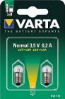 2 Ampoules Sphérique vis Argon 3.5V/0.2A