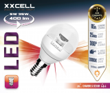 Ampoule LED CLEAR G45 XXCELL E14 5W 400Lm 3000K