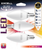 3 Ampoules LED flamme XXCELL E14 3W 250Lm 3000K