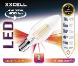 Ampoule LED FILAMENT flamme XXCELL E14 4W 400Lm 2700K