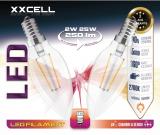 2 ampoules LED FILAMENT flamme XXCELL E14 2W 400Lm 2700K