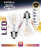 2 ampoules LED FILAMENTS XXCELL E27 2W 250Lm 2700K