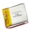 Batterie de casque bluetooth Lipo 3.7V 500mAh avec connecteurs universels