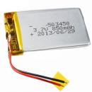 Batterie pour appareil bluetooth Lipo 3.7V 850mAh avec connecteurs universels