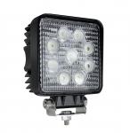 Phare de travail à led carré 12/24V 27W 2160 lumens étanche
