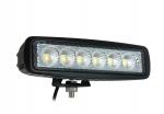Phare de travail à led rectangulaire noir 12/24V 18W 1440 lumens étanche