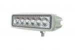 Spot de travail à led rectangulaire blanc 12/24V 18W 1440 lumens étanche