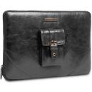 Housse pour MacBook Pro 13  casablanca Cuir Noir