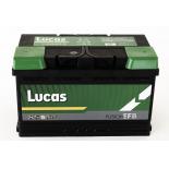 Batterie de démarrage Lucas Fusion EFB LB4 LE110 12V 75Ah / 730A