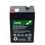 Batterie Plomb étanche Stationnaire Lucas VRLA AGM  LSLA4-6 6V 4Ah