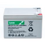 Batterie Plomb étanche Stationnaire Lucas VRLA AGM  LSLA12-12 12V 12Ah