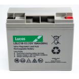 Batterie Plomb étanche Stationnaire et Cyclage Lucas VRLA AGM  LSLC18-12 12V 18Ah