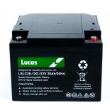 Batterie Plomb étanche Stationnaire et Cyclage Lucas VRLA AGM  LSLC26-12 12V 26Ah