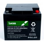 Batterie Plomb étanche Stationnaire et Cyclage Lucas VRLA AGM  LSLC42-12 12V 42Ah