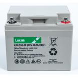 Batterie Plomb étanche Stationnaire et Cyclage Lucas VRLA AGM  LSLC50-12 12V 50Ah