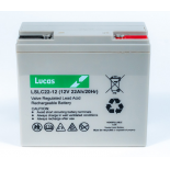 Batterie Plomb étanche Stationnaire et Cyclage Golf Lucas VRLA AGM  LSLC22-12G 12V 22Ah