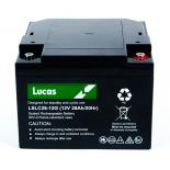 Batterie Plomb étanche Stationnaire et Cyclage Golf Lucas VRLA AGM  LSLC26-12G 12V 26Ah