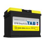 Batterie de démarrage TAB Start&Stop EFB L2 SG60 12V 60Ah 600A