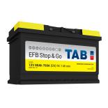 Batterie de démarrage TAB Start&Stop EFB L4 SG80 12V 80Ah 760A