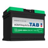Batterie de démarrage TAB Start&Stop AGM L2 AG60 12V 60Ah 680A