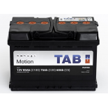 Batterie de décharge lentee Loisirs/Camping-Cars TAB Motion L3 60 P 12V 80/75/60Ah