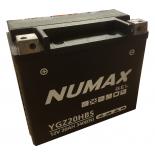 Batterie moto Numax Supreme GEL Harley  YGZ20H-BS 12V 20Ah 340A