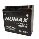Batterie moto Numax Supreme GEL Harley  YG51913 12V 21Ah 390A