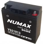 Batterie moto Numax Premium AGM  YS51913 12V 21Ah 230A