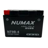Batterie moto Numax Premium AGM  YT9B-4  12V 8Ah 120A