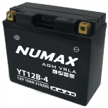 Batterie moto Numax Premium AGM  YT12B-4  12V 10Ah 210A