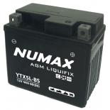 Batterie moto Numax Premium AGM avec pack acide  YTX5L-BS 12V 4Ah 80A