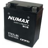 Batterie moto Numax Premium AGM avec pack acide  YTX7L-BS 12V 6Ah 100A