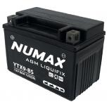 Batterie moto Numax Premium AGM avec pack acide  YTX9-BS 12V 8Ah 135A