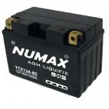 Batterie moto Numax Premium AGM avec pack  YTX12A-BS 12V 10Ah 160A