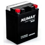 Batterie moto Numax Premium AGM avec pack acide  YTX14AH-BS 12V 13Ah 220A